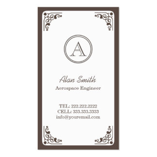 Art Deco Border Aerospace Engineer Double-Sided Standard Business Cards (Pack Of 100)
