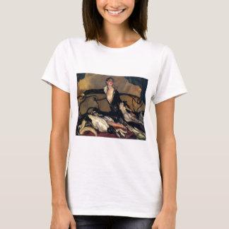 Art Deco Borzoi And Lady Lounging T-Shirt
