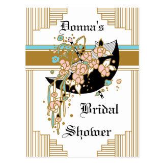 Art Deco Bridal Shower Postcard