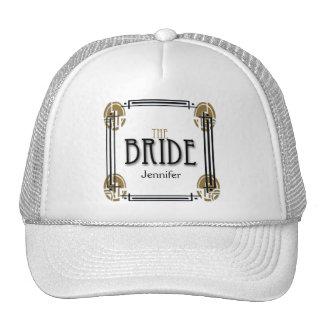 Art Deco Bride in Black and White Cap