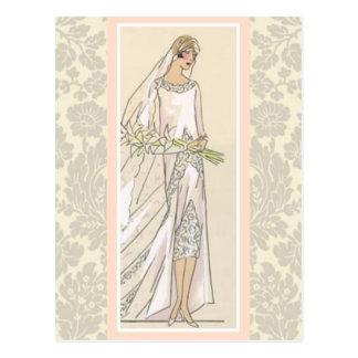 Art Deco Bride Post Cards
