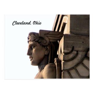 Art Deco Bridge Guardian Cleveland Postcard