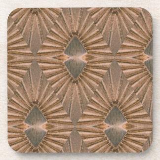 Art Deco Bronze Diamond Pattern Coaster