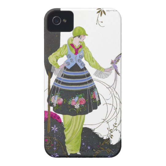 Art Deco Brunelleschi Fashion Plate iPhone 4 Case
