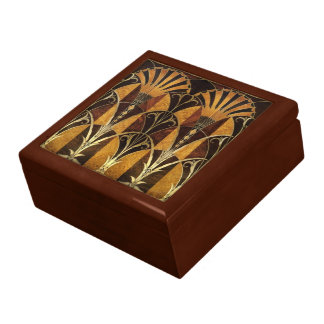 Art Deco Burl Wood Gift Box