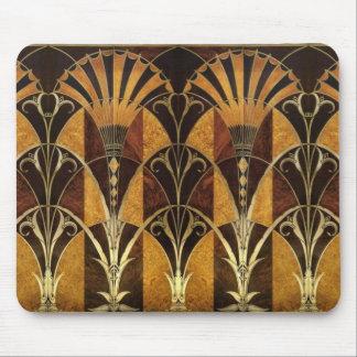 Art Deco Burl Wood Mouse Pad