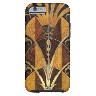 Art Deco Burl Wood Tough iPhone 6 Case