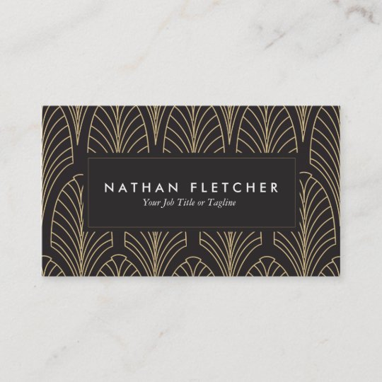 Art deco business cards zazzle art deco business cards reheart Image collections