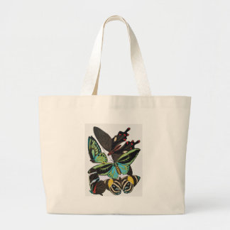 art deco butterflies large tote bag