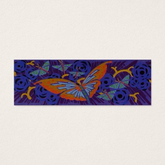 Art Deco Butterfly - Bookmark Mini Business Card