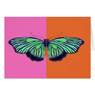 Art Deco Butterly with colorblock Card
