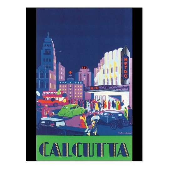 Art Deco Calcutta City Theatre Scene High Contrast