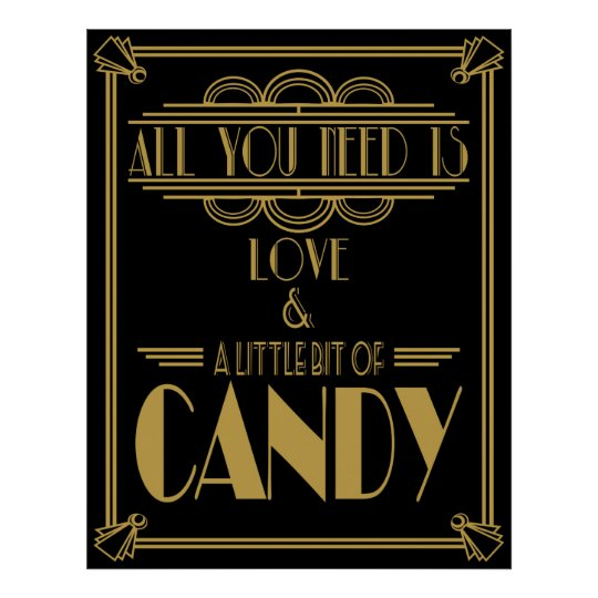 "Art Deco ""Candy Bar"" Gatsby style Black &"