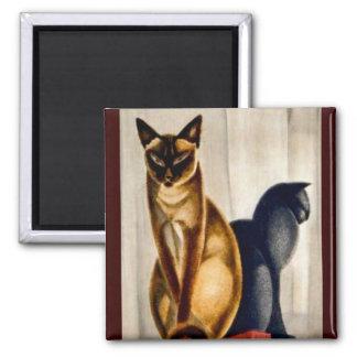 Art Deco Cats Magnet