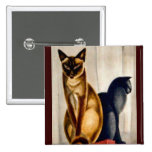 Art Deco Cats Pinback Buttons