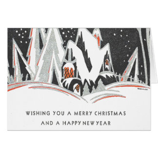 Art deco Christmas Greeting Card
