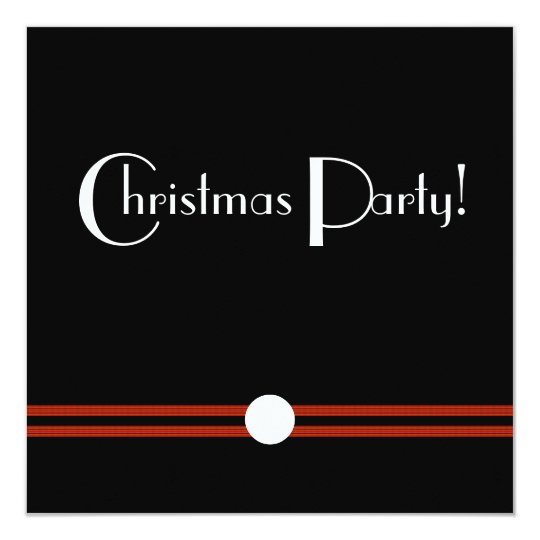 Art Deco Christmas Party in Black and White
