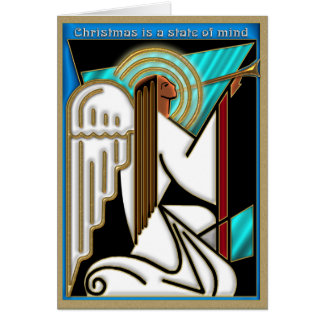 Art Deco Christmas State of Mind Card