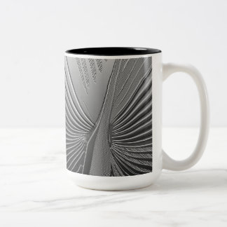 Art Deco chrome palm leaf Coffee Mugs