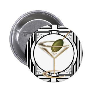 Art Deco Cocktails Buttons