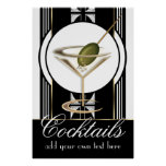 Art Deco Cocktails Large Custom Poster