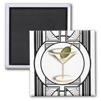 Art Deco Cocktails Magnets