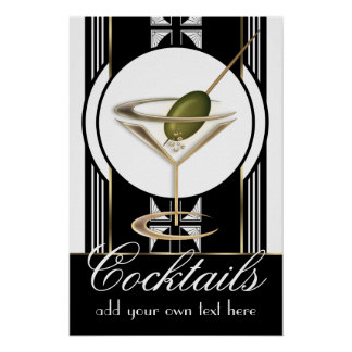 Art Deco Cocktails Small Custom Poster