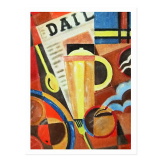 Art Deco Coffee artwork postcard