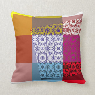 Art Deco Color with pattern Pillow Cushion