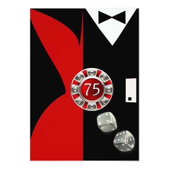 Art Deco Couple 75th Birthday Party | red