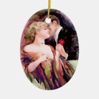Art Deco Couple Personalized Ornament