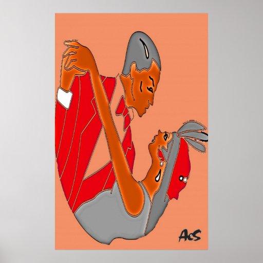 ART DECO COUPLE POSTERS