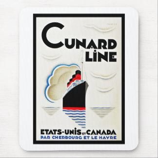 Art Deco Cunard Line Mouse Mat