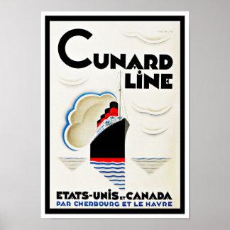 Art Deco Cunard Line Poster