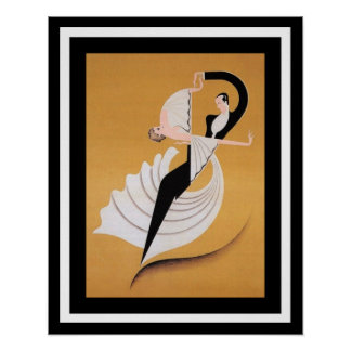 Art Deco Dancers Poster