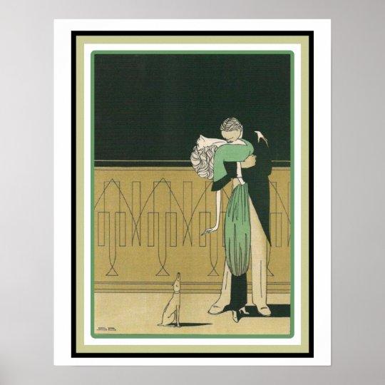 Art Deco Dancers Poster 16 x 20