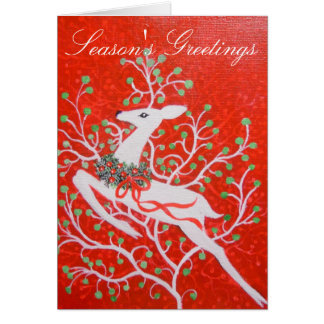 Art Deco deer Christmas Card