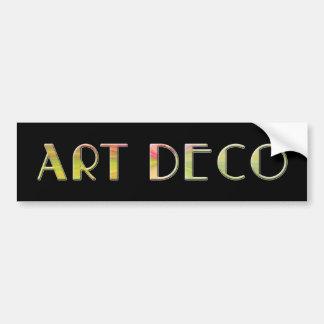 art deco design by shawn tomlinson bumper stickers