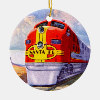 Art Deco Diesel Locomotive Christmas Ornament