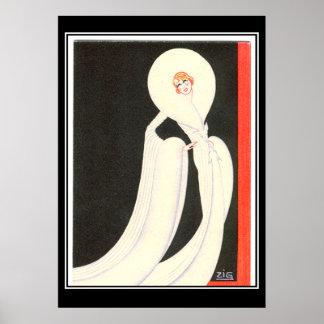 Art Deco Diva Star vintage  Print Poster