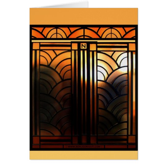 Art Deco Door Card