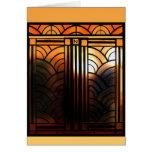 Art Deco Door Greeting Cards