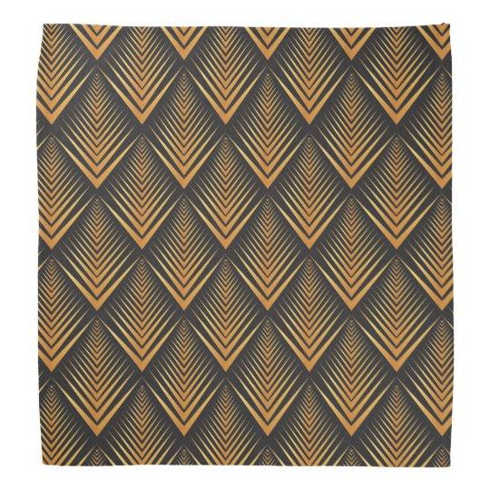 Art Deco Dragon Scales black & gold tan