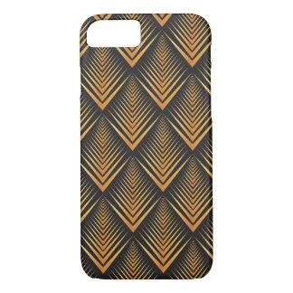Art Deco Dragon Scales black & gold tan iPhone 7 Case