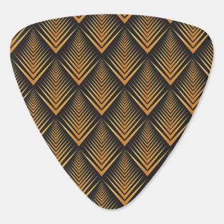 Art Deco Dragon Scales black & gold tan Plectrum