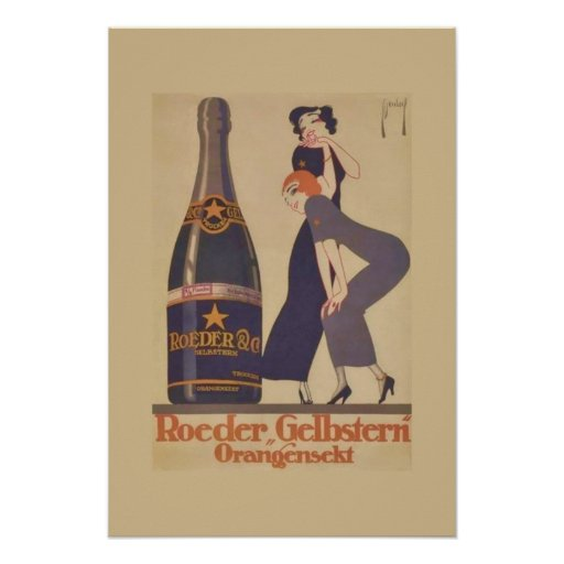 Art Deco Drink Poster