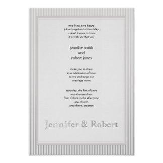 Art Deco Elegant Stripe Wedding Invitation