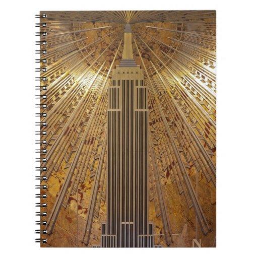 Art deco empire state building notebook zazzle for Empire state building art deco interior