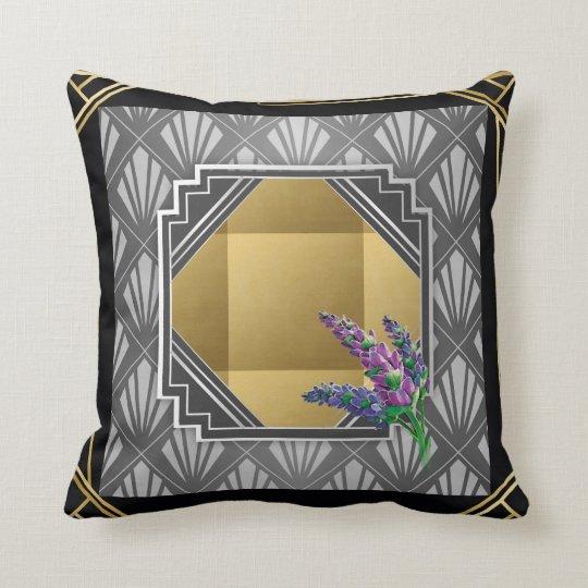 Art Deco English Lavender black grey silver gold