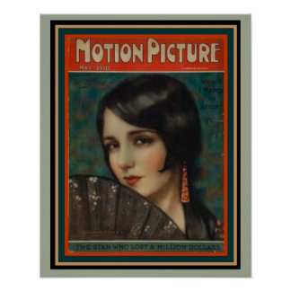 Art Deco Era Motion Picture Mag Poster 16 x 20